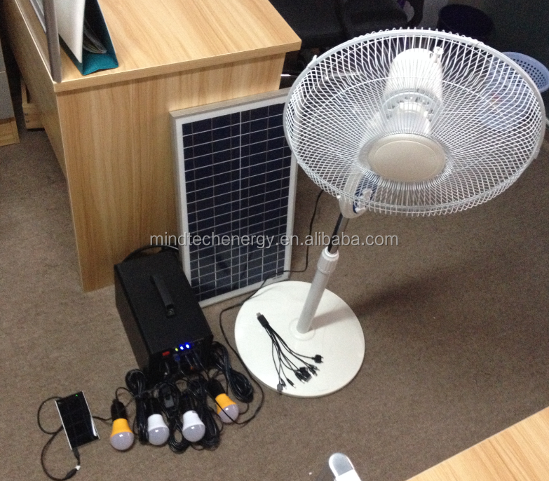 60 watt solar indoor led lighting system and rechargeable solar fan