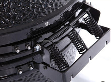"21.5"" Newest kamado ceramic grill with new design triple spring hinge"