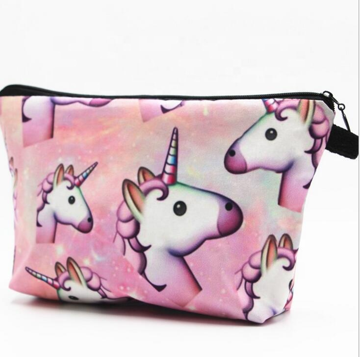 Ins Hot Sale Unicorn Pola Tas Kosmetik Make Up Kit