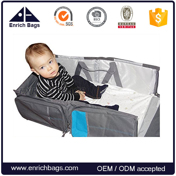 Enrich Travel Infant Bed Baby Changing Station, Bassinet and Diaper Organizer Bags
