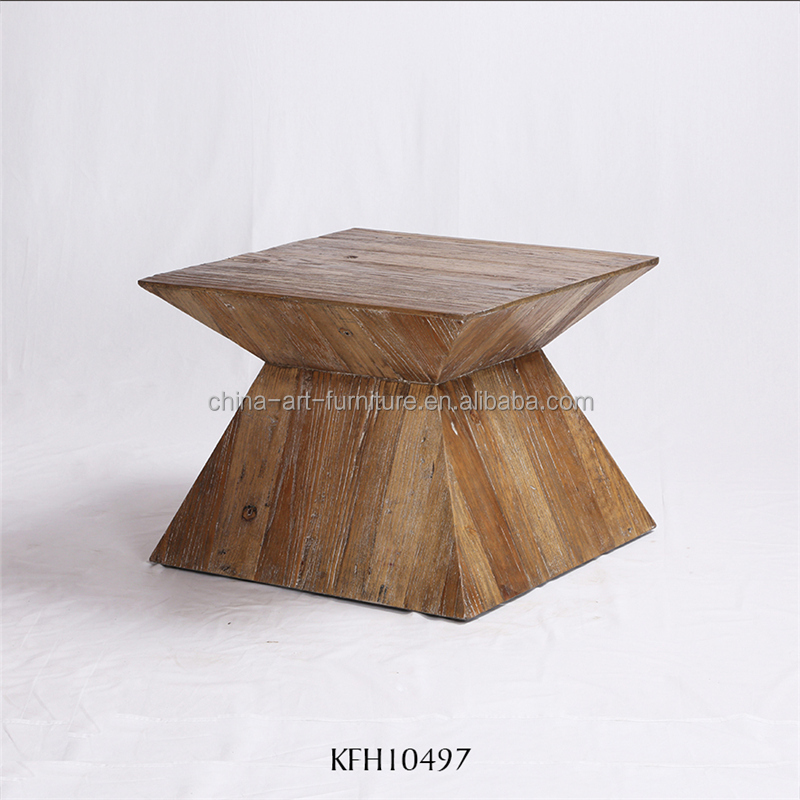 Pattern making wood side table for Living room, untique deisgned coffee table, lamp table