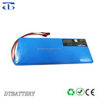 Powerful electric skateboard battery pack 44.4v 10ah use 12S4P 18650 2600mah brand new cells