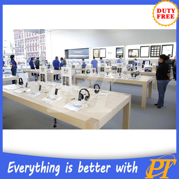 cell phone store interior decoration furniture, mobile phone accessroies display showcase, electronic products display showcases