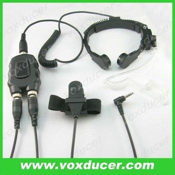 Throat Vibration Mic Earphone With Aviation Motorcycle Ptt For Yaesu Vertex  Transceiver Radio Intercom - Buy Tube Throat Vibration Earphone,Cheap