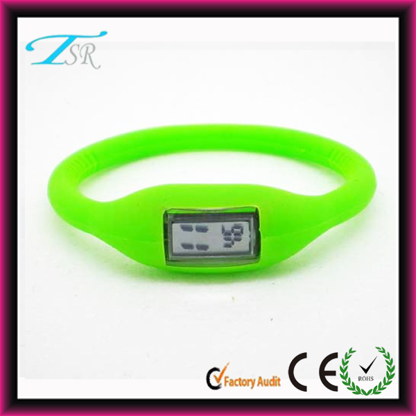 Chinese factory wholesale silicone sports watches anion digital watches could print your own logo