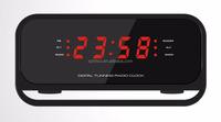 Innovative gadget 2017 Wireless Music Box bluetooth speaker+FM Radio+clock+alarm+ with Digital Display