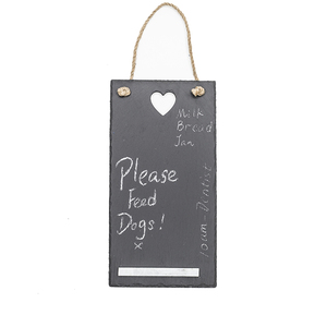 Small Natural Rectangle Slate Chalk Board With Chalk