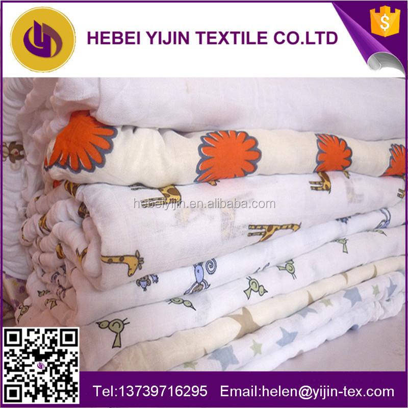 Alibaba China Suppliers Muslin Swaddle Gauze Fabric