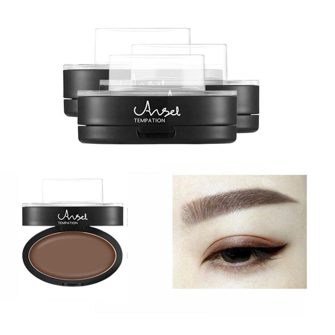 Nesee Brow Stamp Powder Delicated Natural Perfect Enhancer Straight United Eyebrow (Coffee)
