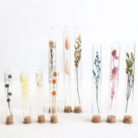 wholesale Mother's day gift high quality preserved flower dried flowers in glass tube