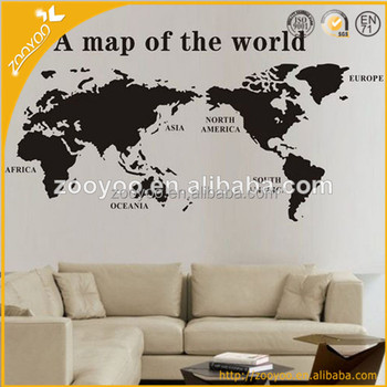 Vinyl Wall Decal Home Decor Wallpaper Removable Decorative Sticker Family World Map