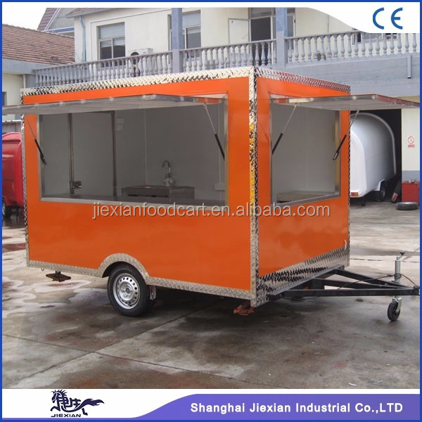 JX-FS300 Jiexian outdoor fast food mobile kiosk used truck for sale with CE qualified 2017