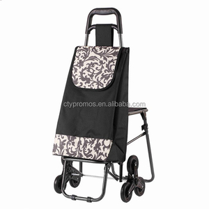 6 Wheels Nylon Oxford Climb the Stairs Shopping Trolley Bags, Grocery Folding Shopping Cart With Wheel