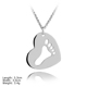PSA-0106 Wholesale 925 Silver Jewelry Footprint Broken Heart Pendant For Jewelry Making Charms