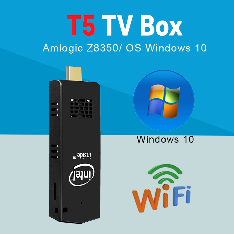 High quality Intel mini pc box tv 2/4+32gb desktop mini pc mainboard T5 usb 3.0 desktop mini pc 4k