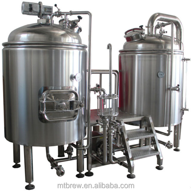 Double 304/316 Stainless Steel Jacket Kettle Beer Brewing Concentrate Fermenter Tank for Home and Industrial