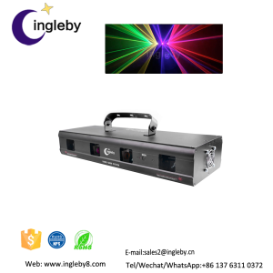 Beautiful effect 330mW RGPY 4 Lens DMX Stage DJ Laser Light Stage Disco KTV Beam Show Lazer Light