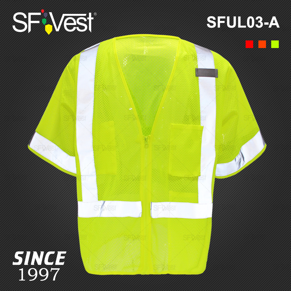 Romantic Sfvest En471 Hi Vis Vest Safety Vest With Logo Printing Workwear Safety Jacket Free Shipping Workplace Safety Supplies