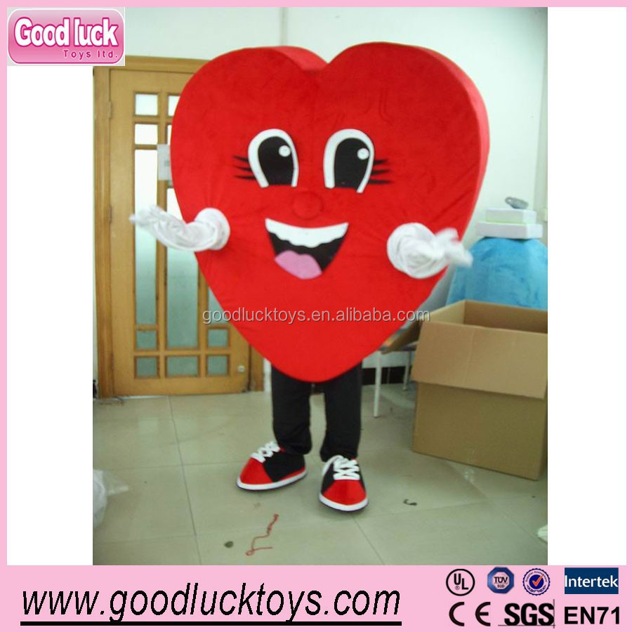 advertising Red hearts costume,fur mascots/party cartoon costumes