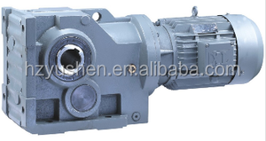 precision speed reducer K series helical Manure scrapers gear speed box