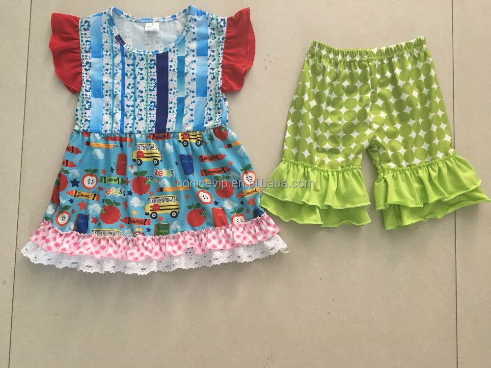 toddler girls back to school clothes kids boutique clothing set autumn outfits for baby girl