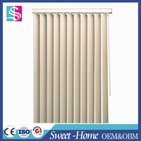 home interior aluminum rail vinyl vertical blind for sliding glass door