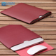 Super fiber Leather Tank bag Pouch for macbook Air laptop bag