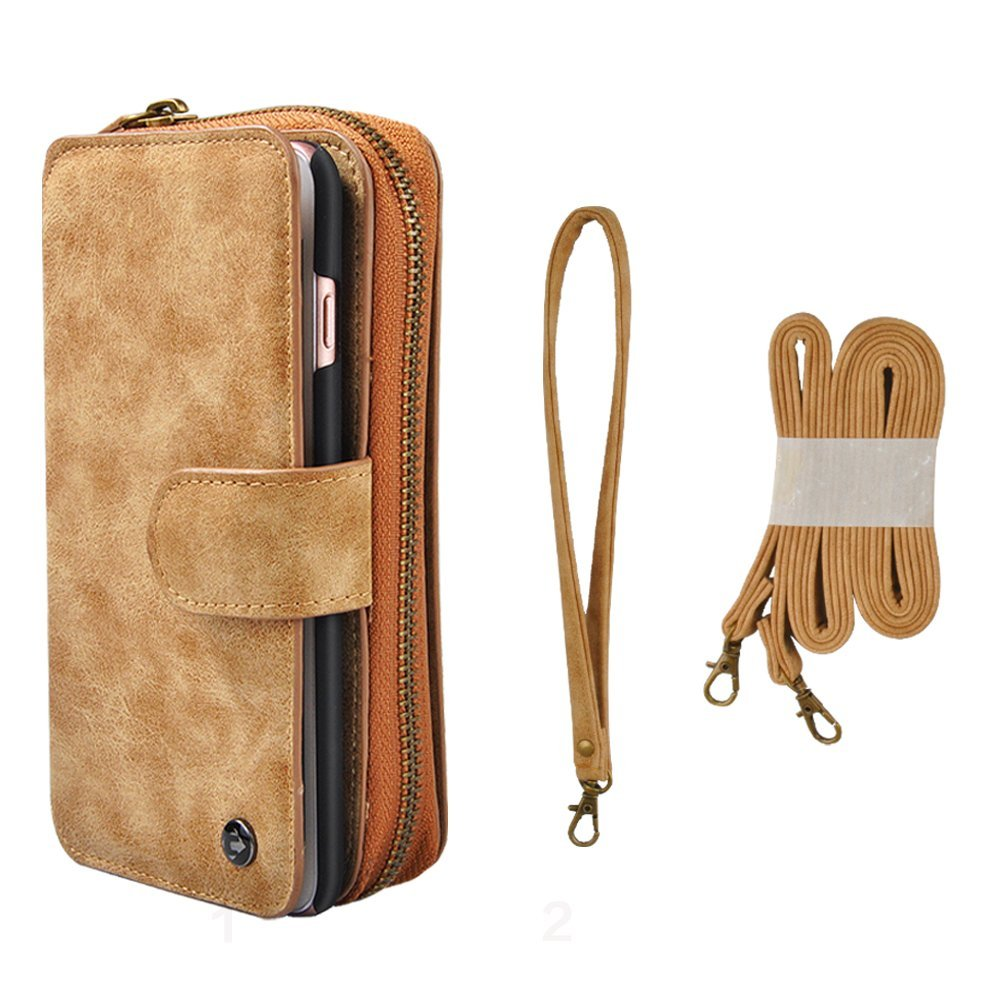 detailed pictures 50a70 e9515 Buy CORNMI iPhone 6 Plus Wallet Case with Detachable Wrist Straps ...