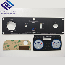 Custom waterproof 3M adhesive lexan sticker equipment front panel with button