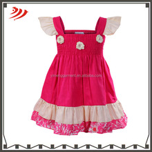 Cheap cotton fabric baby frock design baby girls clothes for 1 years