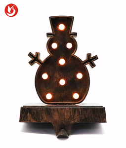 Best selling christmas decoration Hangers Hooks Snowman Stocking Holder Set