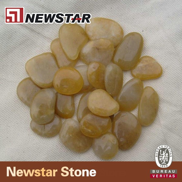 Newstar washed river pebble yeloow pebble