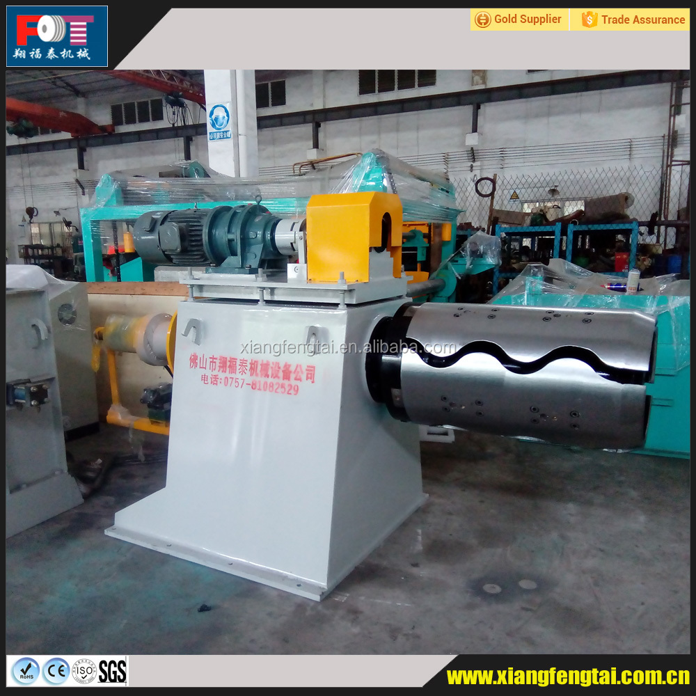 Electric hydraulic de-coiling machine