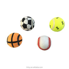 Cheap pet products rubber tennis ball dog toys with squeaker