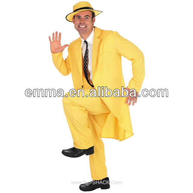 Jim Carrey Le Masque Jaune Zoot Costume Déguisement BM213