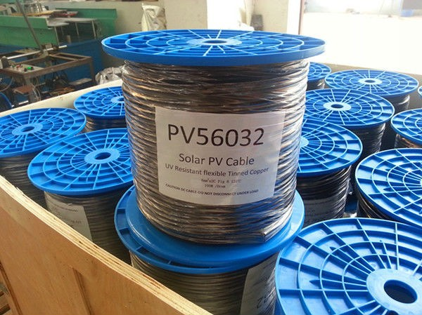 2X16mm Tinned copper conductor XLPE insulation/sheath pv solar cable twin core 4mm2 solar cable