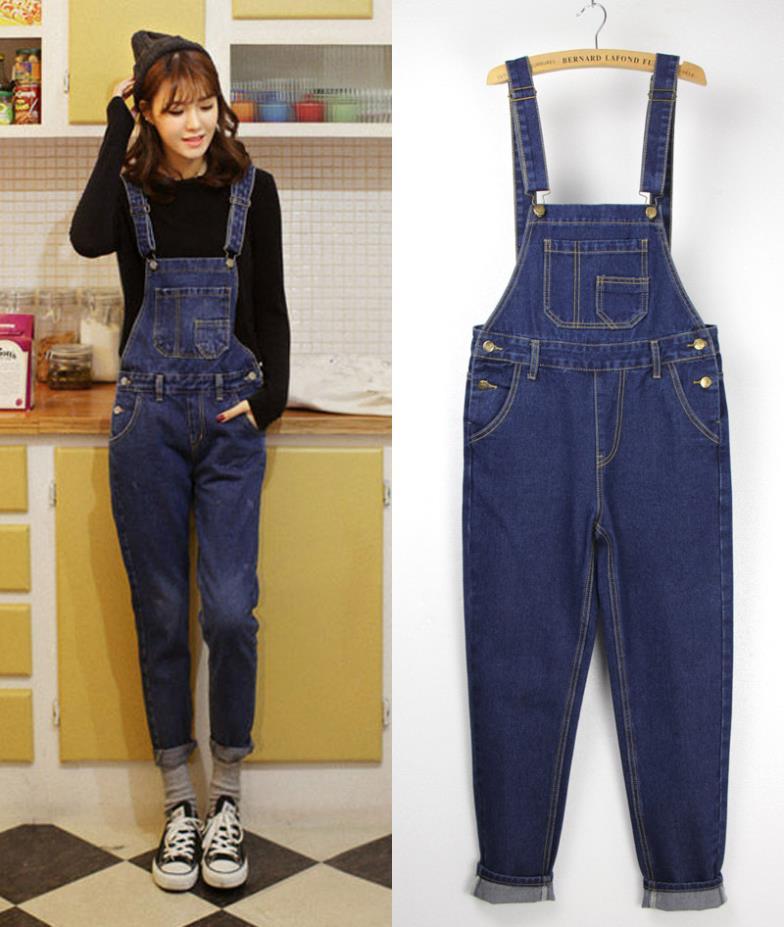 onepiece jumpsuit 2014 women jeans pants loose denim ...