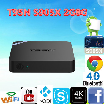 New New New!!! T95m T95 T95n Android 6 0 Tv Box Wifi Air Mouse Keyboard  Support Youtube,Skype,Gmail  Ad Player 16 0 Ott Tv Box - Buy T95n Android  6 0