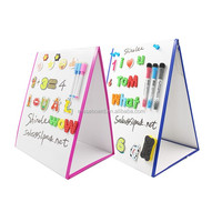 Amazon hot sell kids learhing tool desk table whiteboard with stand first day of school white board with magnetic letter numbers