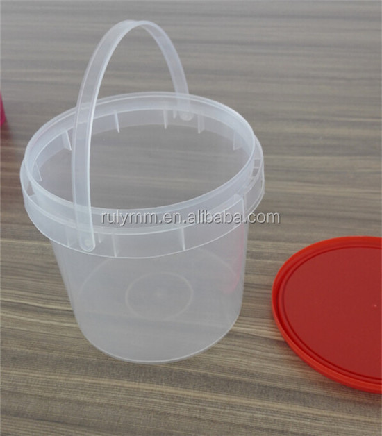 1l Ice Cream Clear Plastic Pails Buy Ice Cream Clear