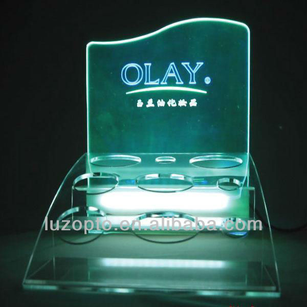 acrylic laser cut led sign,light up cosmetic display