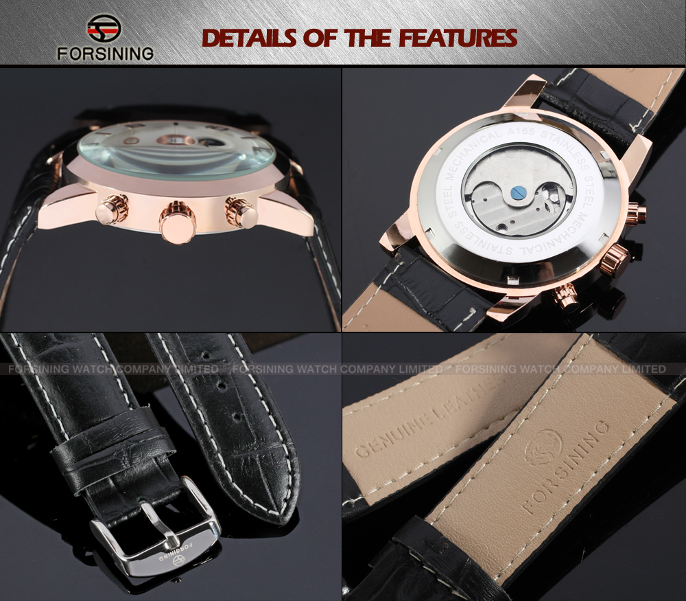 Custom your Logo Easy Popular Leather Automatic Watch Manufacturer relogios masculinos