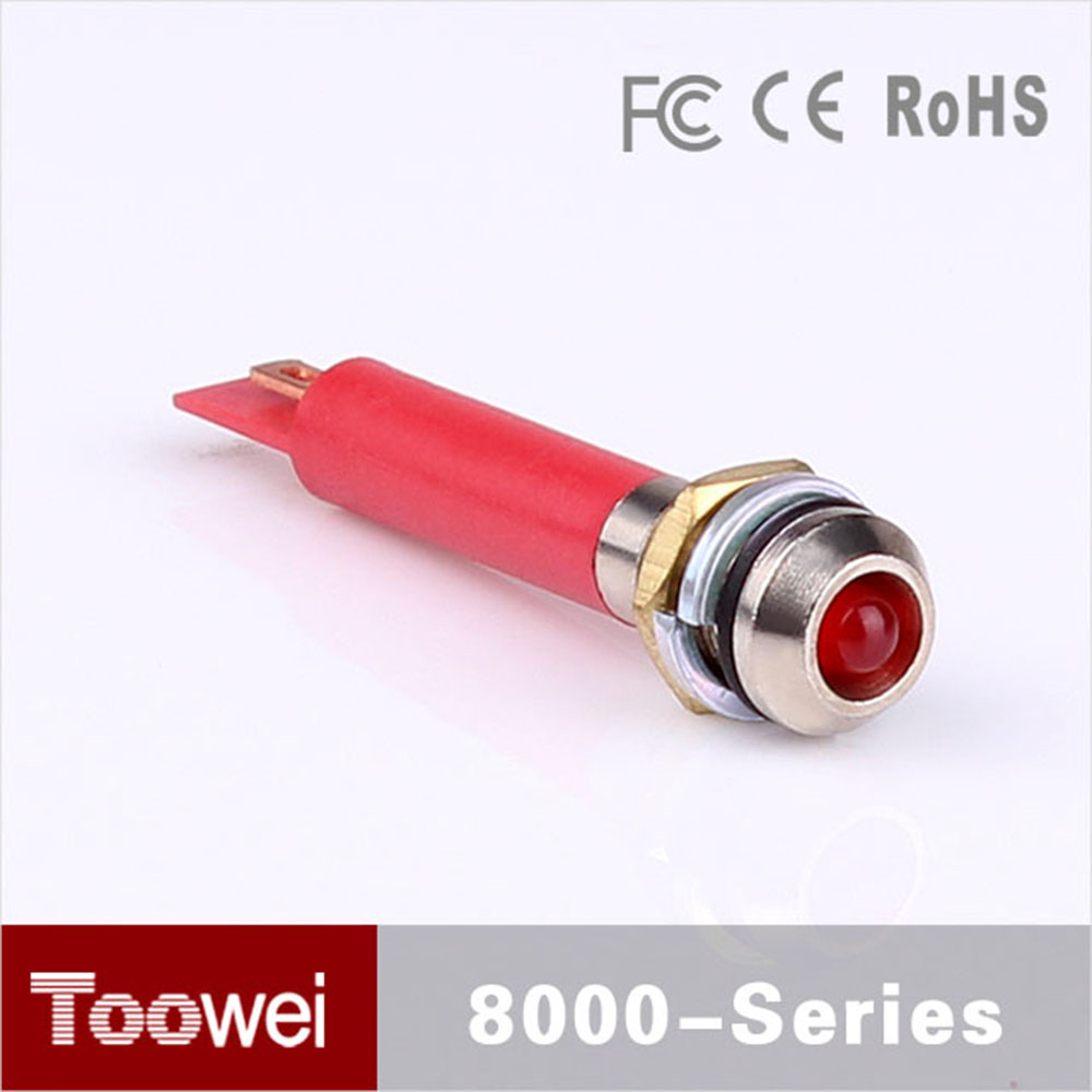 Toowei Waterproof high quality light led lamp indicator red 12v led indicator lights 6MM diameter