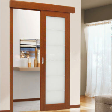 Foshan UPVC white color frosted glass interior french doors