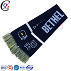 Chengxing woven jacquard pattern football soccer knitted crocheted scarf