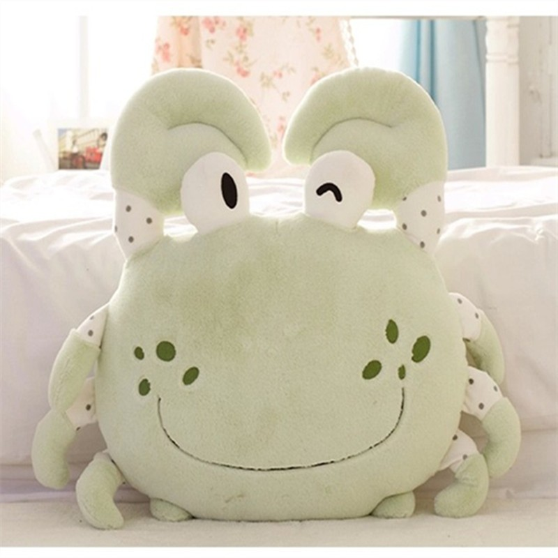 Hot sale colorful cute comfortable crab shaped cushion plush toy