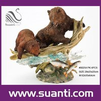 Resin brown bears figurine, polyresin home decoration, wild animal statue