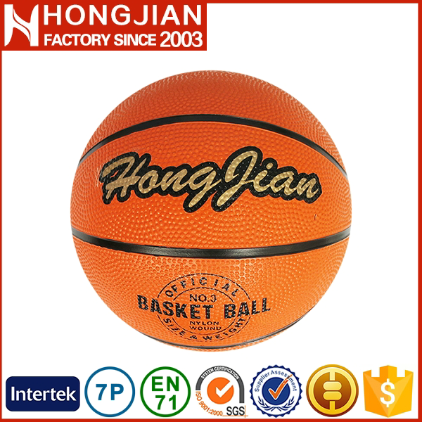 HB018 promotional rubber basketball ball for high school
