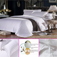 TC and cotton satin stripe hotel linens from Alibaba gold supplier
