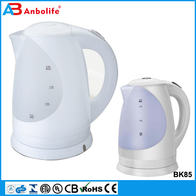 Anbolife home appliance plastic new adjust temperature unique cordless interlligent electric kettle